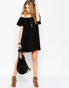 Image 4 - ASOS - Mini robe bohème à épaules dénudées