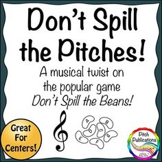 Music Center: Don't Spill the Pitches! - Treble Clef Pitch - awesome game for practicing your notes!
