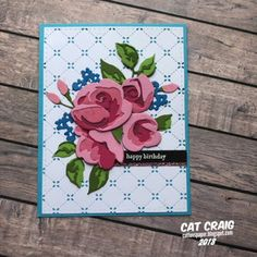Stampin' Up! Handmade Birthday Cards, Happy Birthday Cards, Butterfly Cards, Flower Cards, Altenew Cards, 3d Rose, Wink Of Stella, Beautiful Handmade Cards, Mothers Day Cards