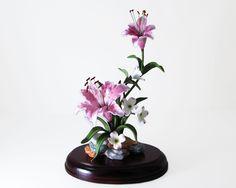 Lenox Rubrum Lily Floral Sculpture Figurine Stargazer Lilium Speciosum 1986 by WhatnotGems on Etsy