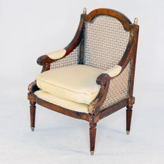 GORGEOUS CANED BACK CHAIR WITH SOFT YELLOW UHOLSTRY   $420.00  Miniatures, Artist Offerings   eBay!