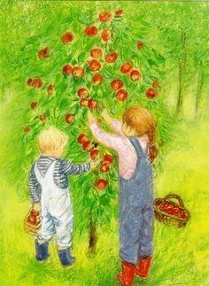 Marjan van Zeyl - Appels plukken