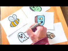 DRAWING 5 CUTE KAWAII DOODLE MONSTERS/ CHARACTERS!!! - YouTube