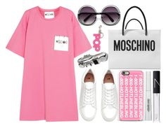 """street style"" by sisaez ❤ liked on Polyvore featuring Moschino, Casetify, NARS Cosmetics, STELLA McCARTNEY and L'Oréal Paris"
