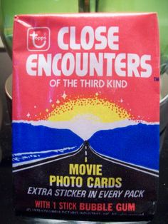 1978 Vintage Topps Close Encounters of the Third Kind Unopened Wax Pack