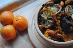 Malinowy Poranek: 495.Dyniowy pęczak z karmelizowaną cytryną, migdałami, czekoladą