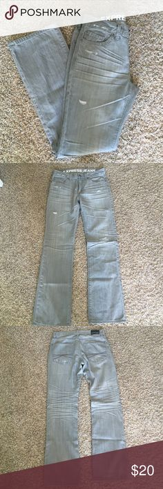 Express Jeans •low rise •boot cut• Rocco Express Jeans grey size 32x34. Like new. Only worn a few times. Comes from a smoke free animal free home. Express Jeans Bootcut