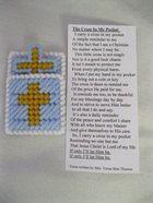 New cross in my pocket prayer pocket card crafts for Cross in my pocket craft