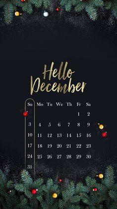 Wallpaper iPhone/calendar December 2017⚪️