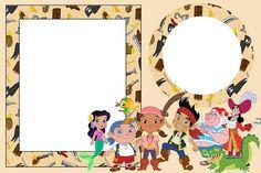 Fazendo a Minha Festa - Kits Completos: Jake e os Piratas da Terra do Nunca - Kit Completo com molduras para convites, rótulos para guloseimas, lembrancinhas e imagens!