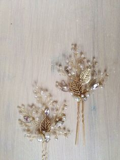 Bridal Hair Pins Bridal Hairpins Wedding Hair Pins Wedding Hairpins Set of Two