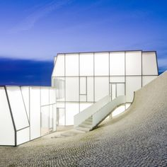 "#KAPILUX Museum of Ocean and Surf: Location: Biarritz, France Architects: Steven Holl Architects Solange Fabiao Area: 50859.0 ft2 Project Year: 2011 Curvy translucent building raises the awareness of oceanic issues and allows the users to explore the concept, ""under the sky/under the sea""."