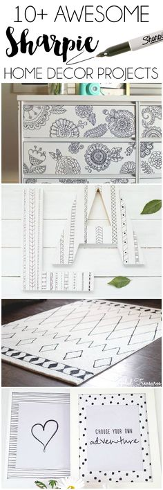 10+ Awesome Sharpie Home Decor Projects. I can't wait to try these!