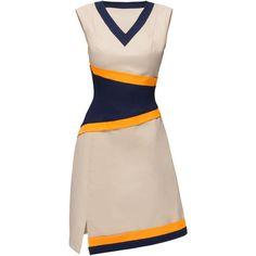 LATTORI Geometrically Designed Dress ($299) ❤ liked on Polyvore featuring dresses, geometric print dress, geo dress, pink dress, cotton dress y geo print dress