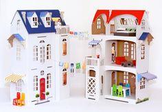 Basteln - Villa Cartabianca Puppenhaus aus Pappe - ein Designerstück von PaperImagination bei DaWanda