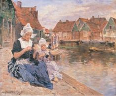 Photograph of a painting by the French artist, Marie-Aimee Lucas-Robiquet. #NoordHolland #Volendam