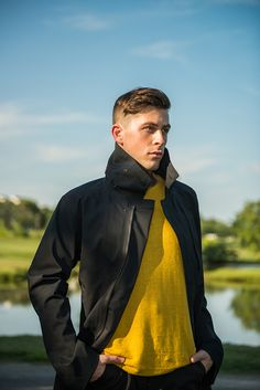 Sunny Yellow Color Advantage | Designs from Westerlind, Nau & Ibex | Photography by Daniel Lambiase / Model: Eric Knox / Production: Jess Minton | Men's Eco Fashion | Organic Spa Magazine