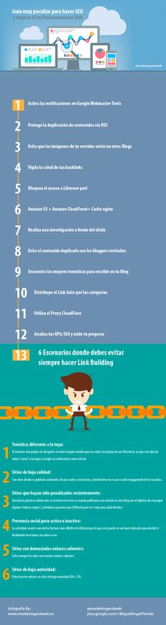 Guía para hacer SEO #infografia via @marketingandweb