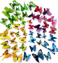 Amber*48 Pcs 4 Packs Beautiful 3d Butterfly Wall Decals DIY Home Decorations Art Decor Wall Stickers & Murals for Babys Bedroom Tv Background Living Room (12 Blue+12 Purple+12 Green+12 Yellow) Amber http://www.amazon.com/dp/B01AABZROC/ref=cm_sw_r_pi_dp_6pYJwb06B4WP0