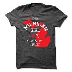 I Love michigan country music T-Shirts