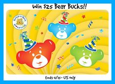 #Win $25 Bear Bucks GC! ends 4/15- US only