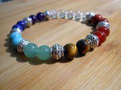 Chakra Mala Bracelet, Healing & Balancing, Mala Bracelet, Yoga Bracelet, Buddha, Meditation, Prayer Beads, Chakra Bracelet by HickorySpringsDesign on Etsy