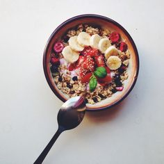ву: νσℓℓєувαℓℓ вєαυту♛ ↠ {VolleyballBeaut}↞ I Love Food, Good Food, Yummy Food, Bowld Acai, Healthy Snacks, Healthy Recipes, Dinner Healthy, Eating Healthy, Breakfast Healthy