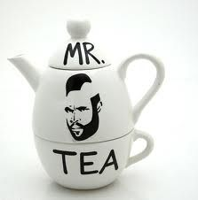 tea pots, which I collect (and must have this one)