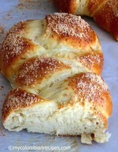 Pan Trenza (Braided Bread) Recipe on Yummly My Colombian Recipes, Colombian Food, Bread And Pastries, Bread Recipes, Cooking Recipes, Braided Bread, Pan Dulce, Pan Bread, Bread Rolls