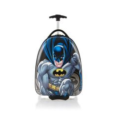Heys Batman Deluxe Carry On Luggage Case. If your children love Batman, they would to put all their things in this luggage when they go travelling. Luggage Case, Best Luggage, Carry On Luggage, Luggage Brands, Child Love, Baby Car Seats, Batman, Backpacks, Shoe Bag