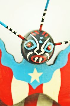 Puerto Rico Vejigante Wall Art Boricua by TheFlamboyanTree on Etsy, $18.99
