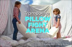 Trampoline Pillow Fight Arena