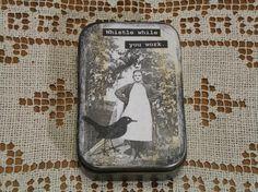 Altered Altoid Tin Vintage Photo Whistle While You Work Treasury Item