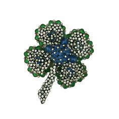 1stdibs - Chanel Poured Glass and Paste Clover Brooch explore items from 1,700  global dealers at 1stdibs.com