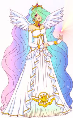 my little pony human form | ThePonyArtCollection • Princess Celestia by =Sailor-Serenity