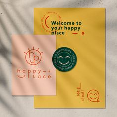 Hello Kaléidoscope - Happy Place - Identité visuelle - Graphic Design Branding, Graphic Design Posters, Corporate Design, Logo Branding, Typography Design, Lettering, Collateral Design, Graphic Design Layouts, Brand Identity Design