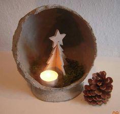 Juletræ i betonkugle