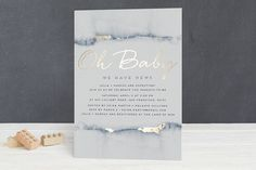 Oh Baby We Have News! Foil-Pressed Baby Shower Invitations