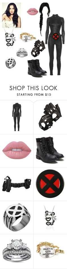 """""""🐼Eva🐼 Her X-Men suit (X-Men)"""" by serenamarie273 ❤ liked on Polyvore featuring Aphero, Aspinal of London, Lime Crime, Wolverine and DB Designs"""