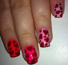 Valentines Day Ombre Nails