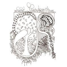 Printable Illuminated Letters | Monogram, Initial, Colour-Me-In Illuminated Letters - J, original art ...