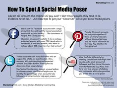 How To Spot A Social Media Poser Infographic #infographic