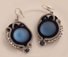 Moonlight soutache earrings