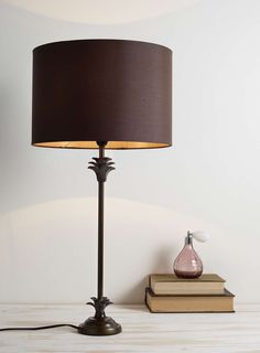 Bronze Palm Table Lamp - BHS