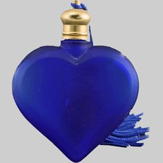 DeVilbiss Art Deco Dropper Top Perfume Bottle from amyantiq on Ruby Lane Lalique Perfume Bottle, Blue Perfume, Antique Perfume Bottles, Vintage Bottles, Carafe, Bleu Cobalt, Top Perfumes, Beautiful Perfume, Himmelblau