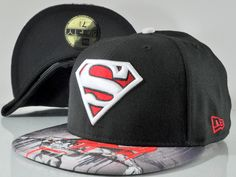 Superman black and red New era fitted hat