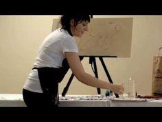 Camilla d'Errico Anime Evolution 2010 Live Painting - YouTube