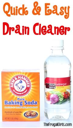 Easy Drain Cleaner Trick! ~ from TheFrugalGirls.com ~ go grab the baking soda and vinegar... you'll LOVE how simple this diy cleaning trick is and how clean it will get your drains!