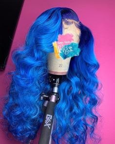 Blue Wigs Lace Hair Lace Frontal Wigs Trendy Wigs Toni Braxton Wigs Al – eggplantral Baddie Hairstyles, Pretty Hairstyles, Prom Hairstyles, Black Hairstyles, Straight Hairstyles, Braided Hairstyles, Colored Weave Hairstyles, Black Hair Shampoo, Curly Hair Styles