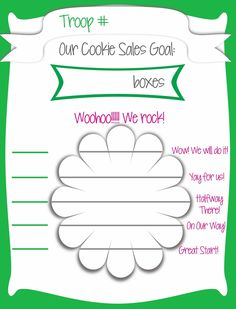 Fashionable Moms: Girl Scout Cookie Sales - Free Printable Goal Poster!